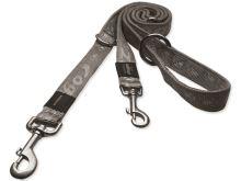 Rogz Alpinist Nylonové přepínací vodítko pro psy stříbrné - velikost L, 1,6 mx2 cm