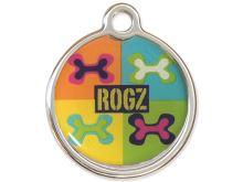 Rogz Metal Pop Art Kovová známka - velikost S, průměr 20 mm