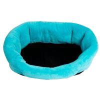 Samohýl Exclusive Pelíšek Korpus Froté Soft osmihranný plyšový pro psy modrý, 65 cm