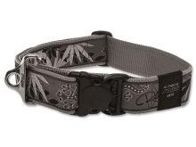 Obojek pro psa nylonový - Rogz Fancy Dress Silver Gecko - 4 x 50 - 80 cm