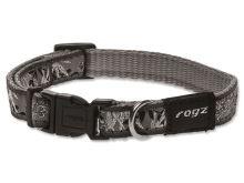 Obojek pro psa nylonový - Rogz Fancy Dress Silver Gecko - 1,1 x 20 - 32 cm
