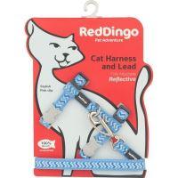 Postroj Red Dingo s vodítkem - reflexní - modrá ziggy
