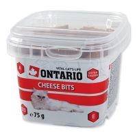 Ontario Snack Cheese Bits - sýrová pochoutka pro kočky 75 g