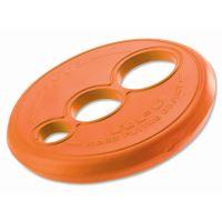Rogz RFO Létající talíř pryžový pro psy oranžový, průměr 23 cm