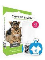 Tag4Pet Charm mini chytrá psí známka modrá