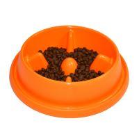 Plastová miska proti hltání s protiskluzem Argi - oranžová - 25,5 x 23 x 6,5 cm