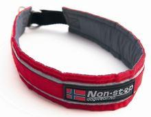 Non-Stop Dogwear polostahovací obojek červený, 45 cm