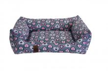 Pelech pro psa Argi obdélníkový - snímatelný potah z polyesteru - Molly - 90 x 70 cm