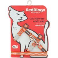 Postroj Red Dingo s vodítkem - reflexní - oranžová ziggy