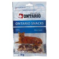Ontario Snack Mini Sushi - pochoutka kuře & zelenina & ryba pro kočky 70 g
