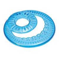 Frisbee - létající talíř s otvorem Argi - modrý - 23,5 cm