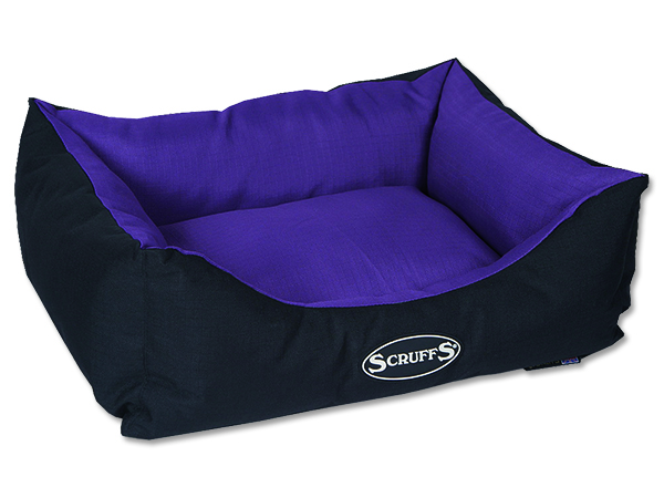 Scruffs Expedition Box Bed Pelech švestkový - S, 50x40 cm