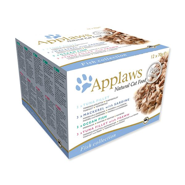 Konzervy APPLAWS Cat Fish Selection multipack 12 x 70 g