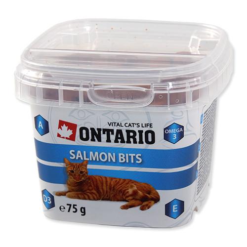 Ontario Snack Salmon Bits - pochoutka losos pro kočky 75 g