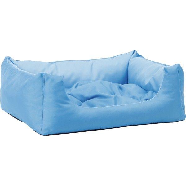 Pelech pro psa Argi obdélníkový s polštářem - modrý - 100 x 80 x 24 cm