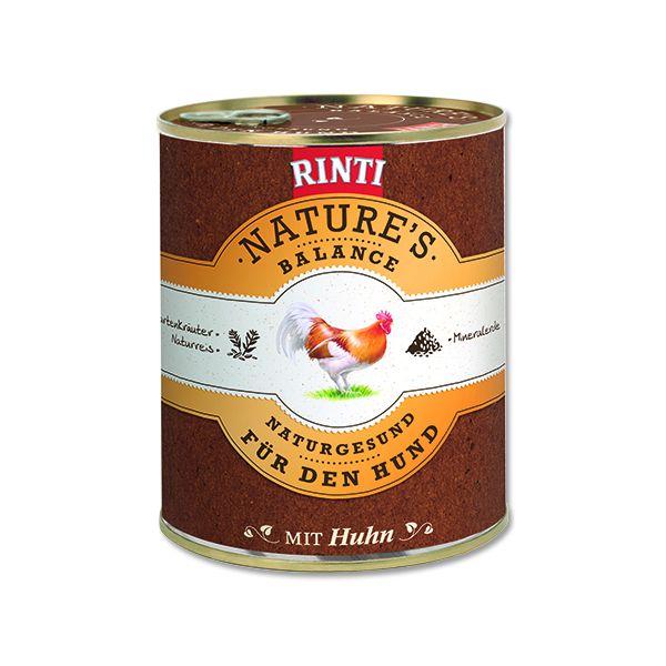 Rinti Nature's Balance Konzerva pro psy kuřecí & hnědá rýže & vejce 800 g