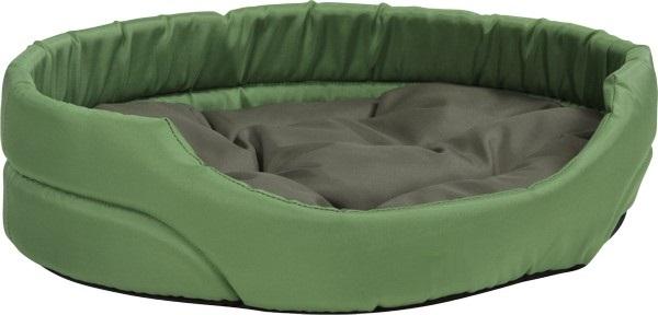 Pelech pro zvířata Argi oválný s polštářem - zelený - 40 x 30 x 12 cm