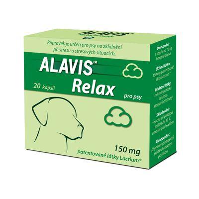Alavis Relax 150 mg pro psy - na zklidnění při stresu, 20 tablet