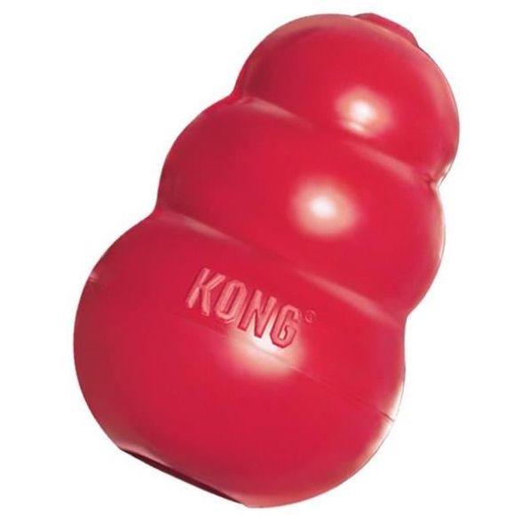 Kong Classic gumová plnitelná interaktivní hračka pro psy červená
