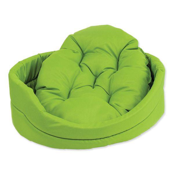 Pelíšek DOG FANTASY ovál s polštářem zelený 75 cm