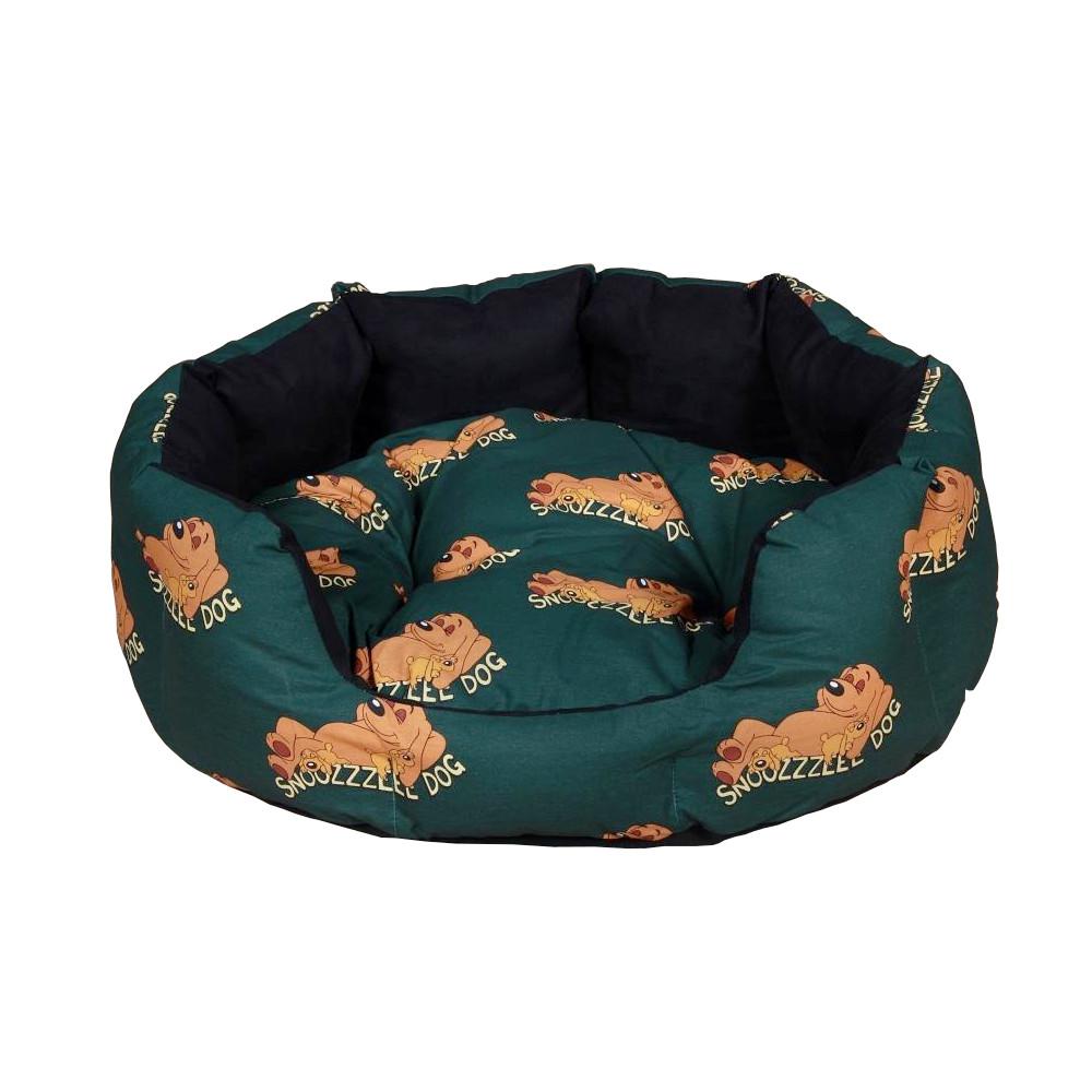 Snoozzzeee Relax bavlněný pelech ovál zelený, 68 cm