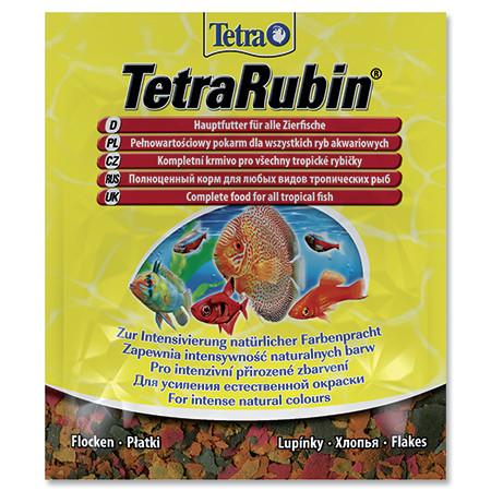 Tetra Rubin vločkové krmivo pro zvýraznění barevnosti ryb sáček 12 g