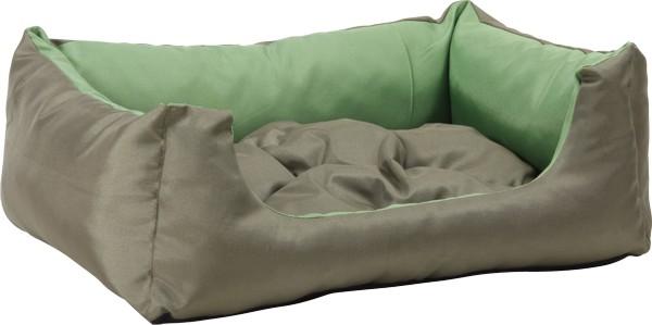 Pelech pro psa Argi obdélníkový s polštářem - zelený - 55 x 40 x 19 cm