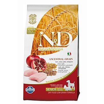 N&D Low Grain Dog Senior S/M Chicken & Pomegranate 800 g
