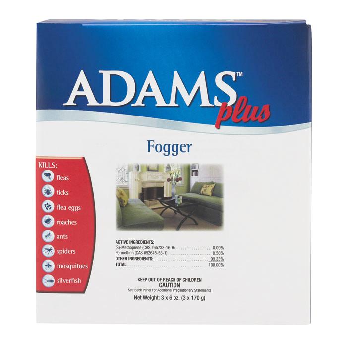 Farnam Adams Plus Fogger Antiparazitní aerosol na prostředí 90 ml, 3 ks