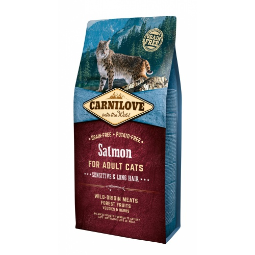 CARNILOVE Salmon Adult Cats Sensitive and Long Hair 2 kg