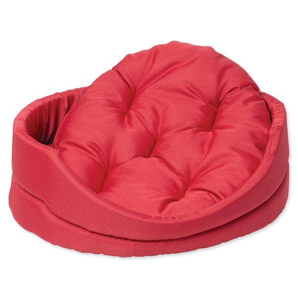 Pelíšek DOG FANTASY ovál s polštářem červený 75 cm
