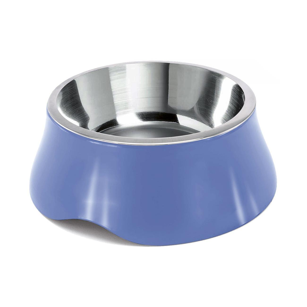 Miska pro psa Argi - nerez / plast - modrá - 1900 ml