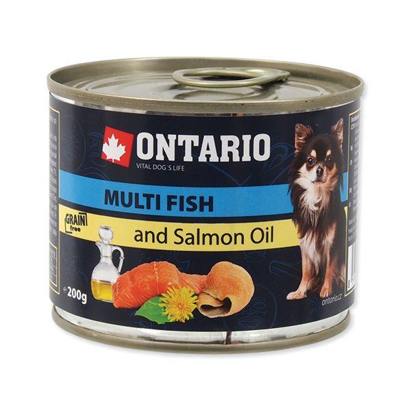 Konzerva ONTARIO Dog Mini Multi Fish and Salmon Oil