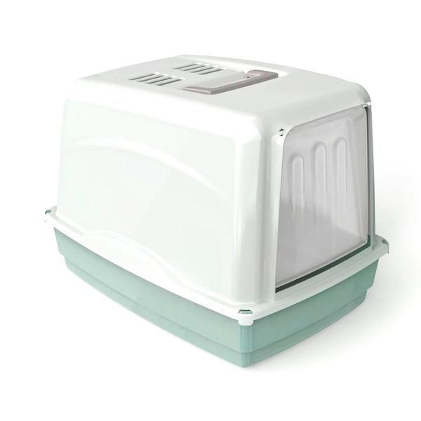 Krytá toaleta s filtrem Argi - zelená - 54 x 39 x 39 cm