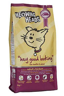 Meowing Heads Hey Good Looking - kuřecí & ryby pro lesklou srst koček