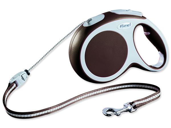 Flexi Vario Samonavíjecí vodítko lankové hnědé - 8m/20kg