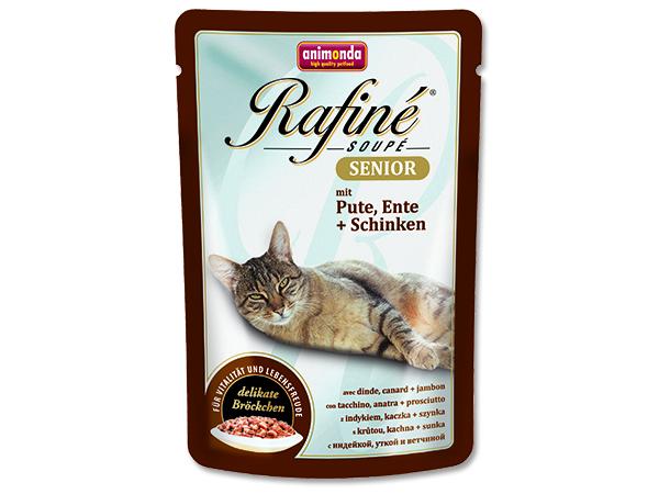 Animonda Rafine Soupe Senior - krůta & kachna & šunka kočky od 7 let 100 g