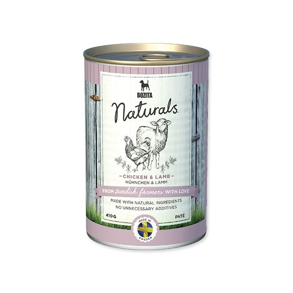 Konzerva BOZITA Dog Naturals Chicken & Lamb 410 g