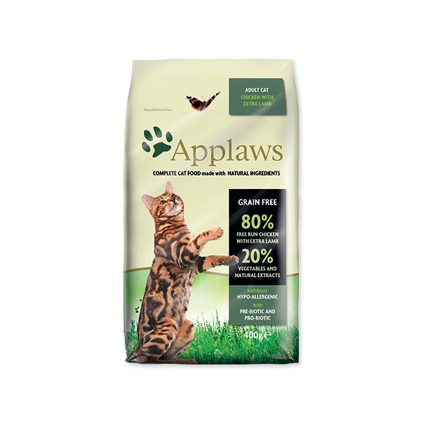 Krmivo APPLAWS Dry Cat Chicken with Lamb 400 g