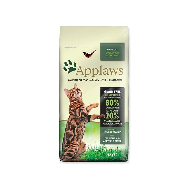 Krmivo APPLAWS Dry Cat Chicken with Lamb 2 kg