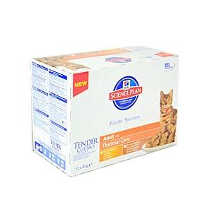 Hill's Feline kapsička Adult Multipack - drůbeží pro kočky 12x85 g