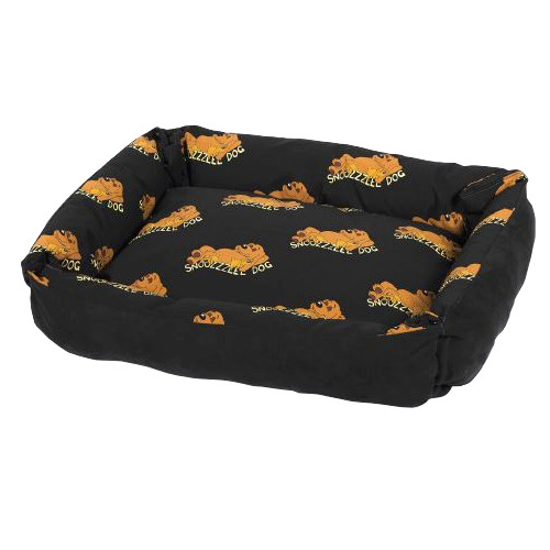 Snoozzzeee Relax bavlněné sofa-pelech oboustranný černý