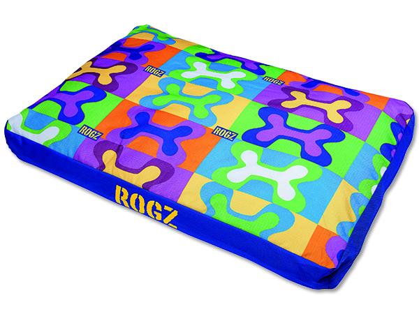 Rogz Flat Podz Pop Art Matrace pro psy - M, 83x56x10 cm