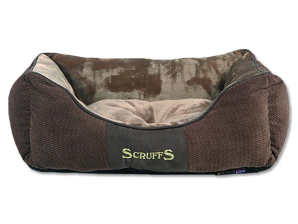 Scruffs Chester Box Bed pelíšek pro psy čokoládový - S, 50x40 cm