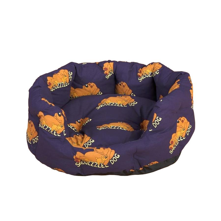 Snoozzzeee Relax bavlněný pelech ovál fialový, 68 cm