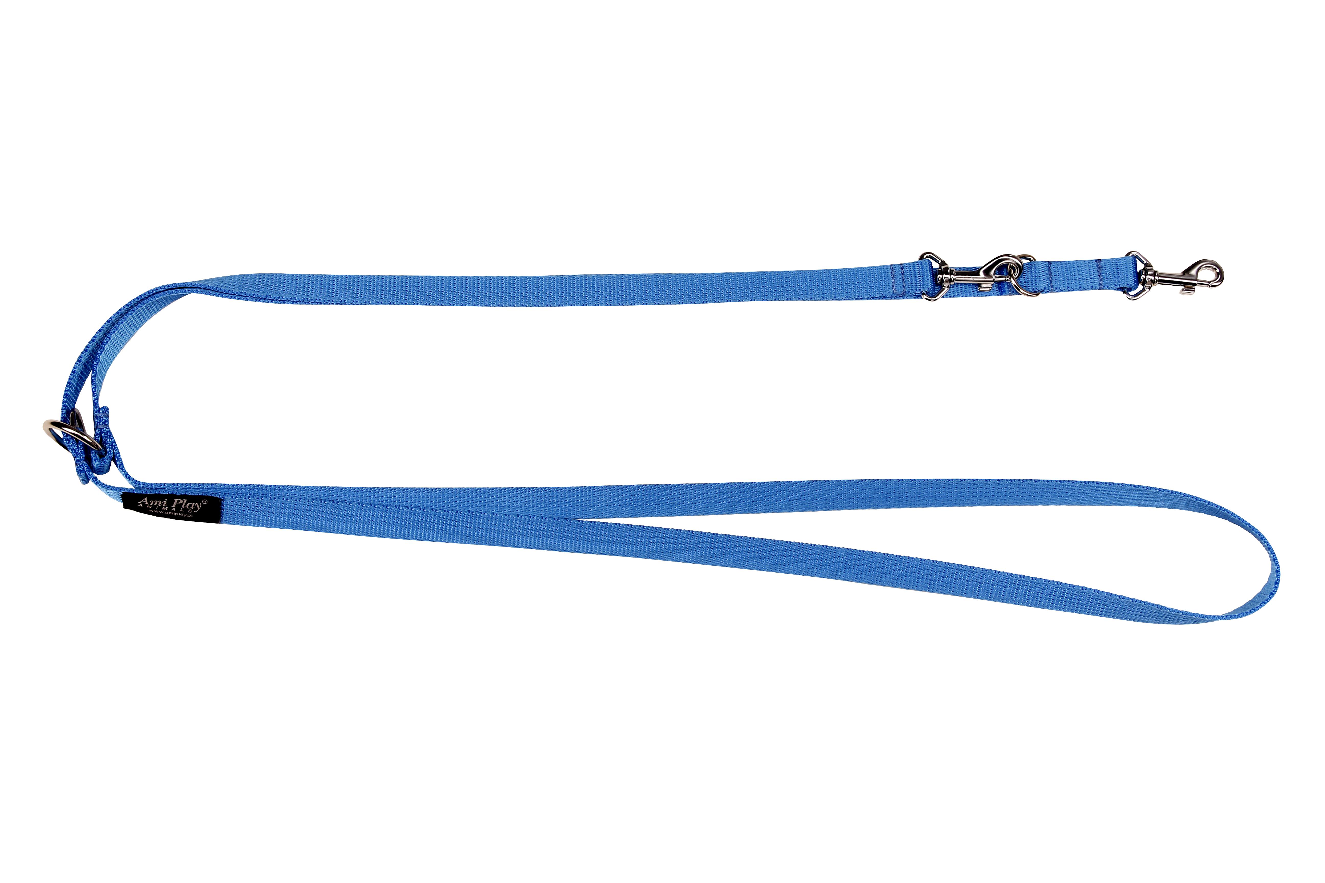 Vodítko pro psa přepínací nylonové - modré - 2 x 100 - 200 cm