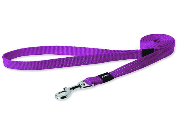 Vodítko pro psa nylonové - reflexní - Rogz Utility - růžové - 1,6 x 140 cm