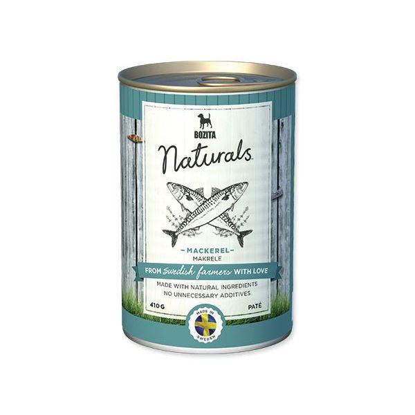 Konzerva BOZITA Dog Naturals Mackerel 410 g