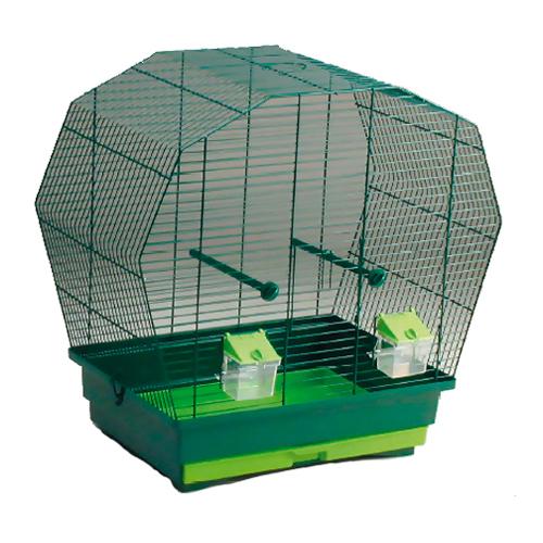 Klec BIRD JEWEL K6 tmavě zelená 57,5 x 33,5 x 55 cm
