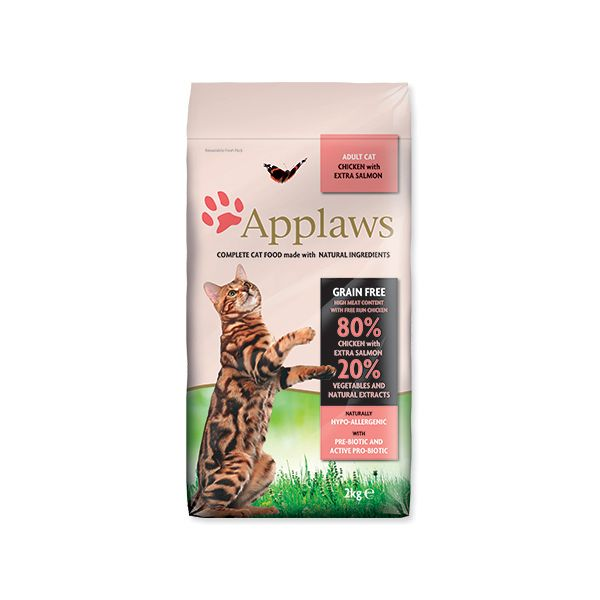 Krmivo APPLAWS Dry Cat Chicken & Salmon 2 kg